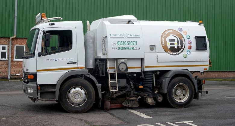 Road Sweeping from County Drains Leicester Ltd